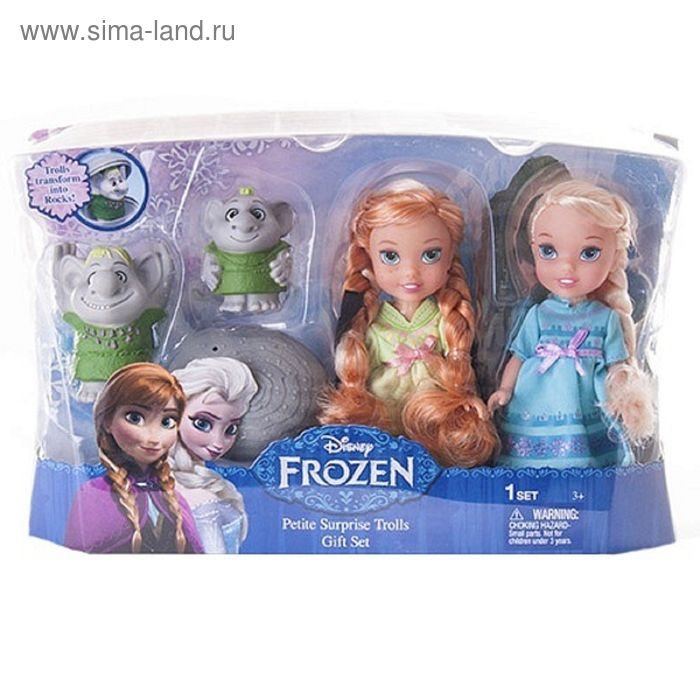 """Игровой набор """"Холодное сердце"""": 2 куклы и тролли"""