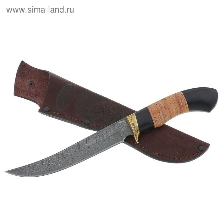 """Нож """"Восточный"""" (2268)д, рукоять-дерево, дамасская сталь"""