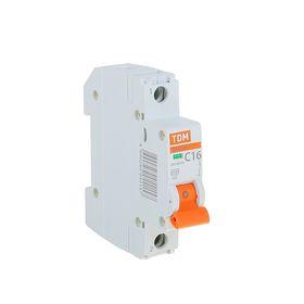 Выключатель автоматический TDM ВА47-29, 1п, 16 А, 4.5 кА Ош