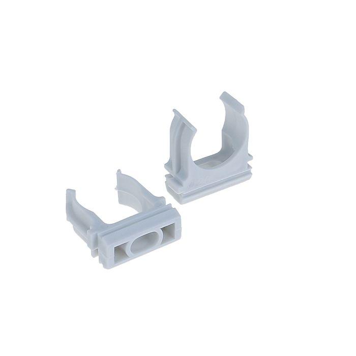 Крепеж-клипса для трубы TDM, d=20 мм, уп. 10 шт, SQ0405-1002
