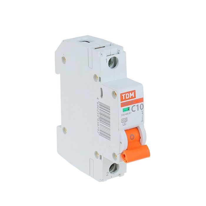 Выключатель автоматический TDM ВА47-29, 1п, 10 А, 4.5 кА, SQ0206-0072