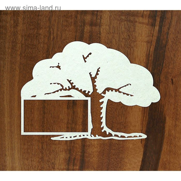 "Чипборд-рамка ""Дерево"", толщ. 0,9-1,15 мм, фото 3х5 см"