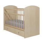 Детская кроватка «Колибри-Классик 5» с ящиком, цвет клён