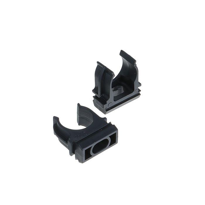 Крепеж-клипса для трубы TDM, d=16 мм, черная, SQ0405-0111