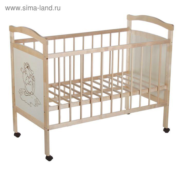 Детская кроватка «Колибри Ладушка-1» на колёсах, цвет берёза