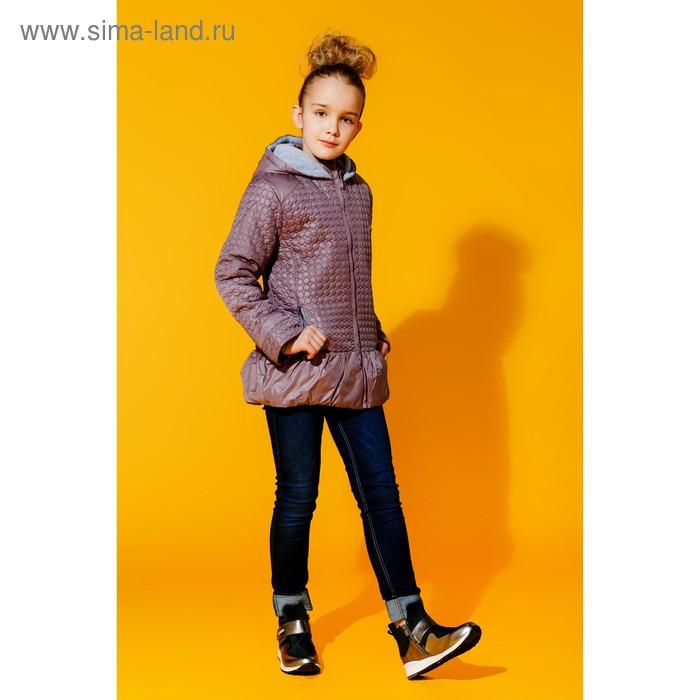 Куртка для девочки, рост 122 см, цвет сиреневый (арт. 2050-2)