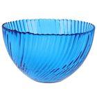 """Салатник 350 мл """"Альтера"""", 12 см, цвет синий прозрачный"""