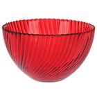 """Салатник 350 мл """"Альтера"""", 12 см, цвет прозрачный рубиновый"""