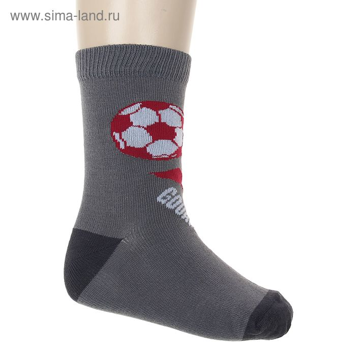 "Носки ""Мячик"", размер 20-22, цвет серый 002/9"