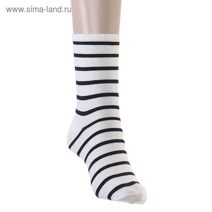 Носки хлопковые, размер 26-28, цвет белый 016/8