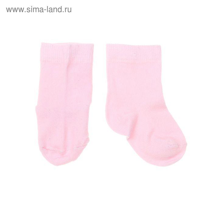 Носки однотонные, размер 10-12, цвет светло-розовый 004/6