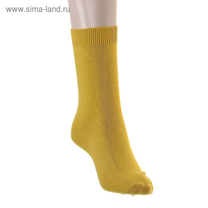 Носки однотонные, размер 26-28, цвет охра 015/1