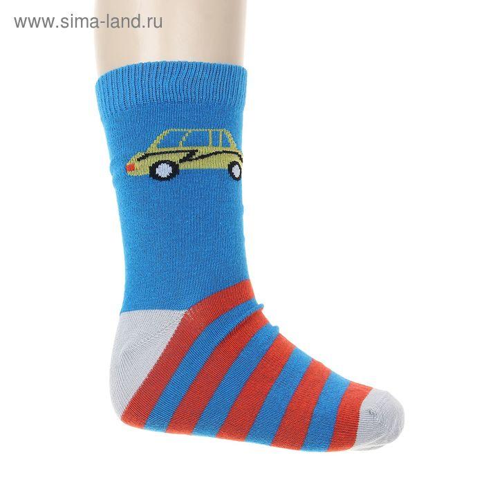 """Носки """"Машинка"""", размер 18-20, цвет синий 002/5"""