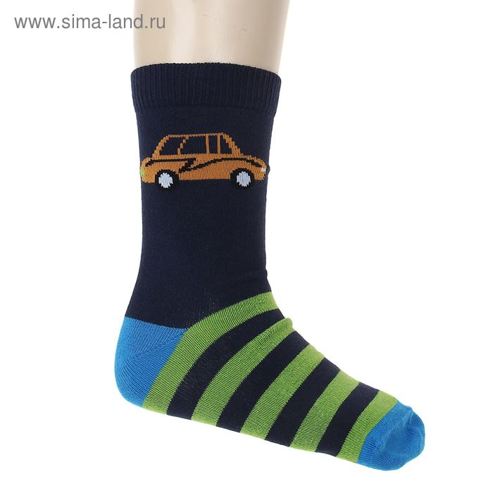 """Носки """"Машинка"""", размер 18-20, цвет тёмно-синий 002/5"""