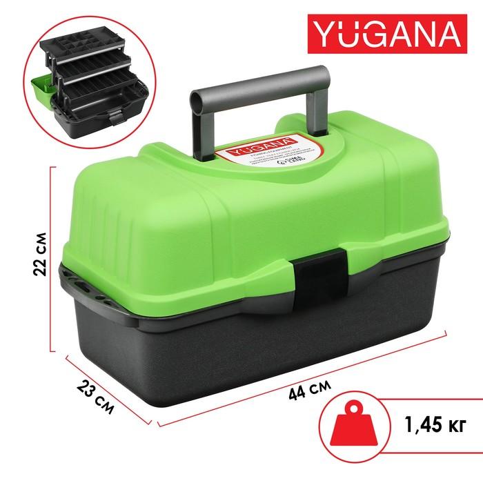 Ящик Helios трехполочный, цвет зеленый