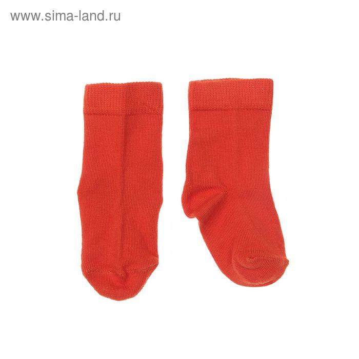 Носки однотонные, размер 8-10, цвет тёмно-оранжевый 004/6