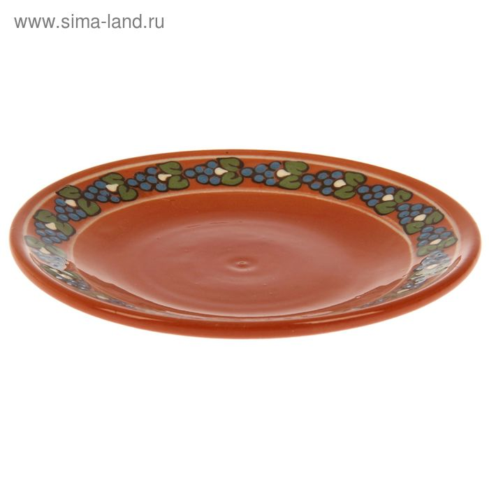 """Тарелка десертная """"Цветочный узор"""", d=22 см, микс"""