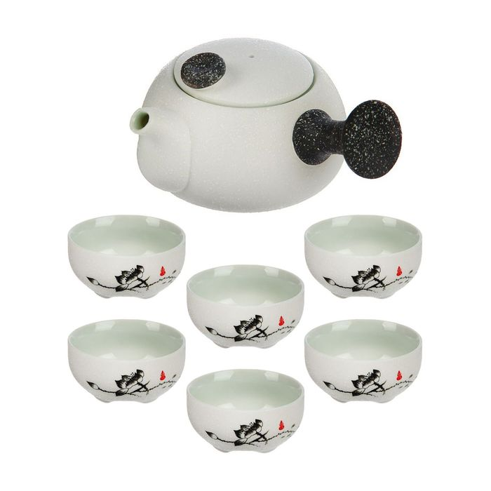 """Набор для чайной церемонии 7 предметов """"Путь Даоса"""" (чайник 180 мл, чашка 70 мл)"""