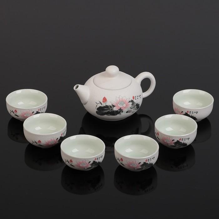 """Набор для чайной церемонии """"Лотос"""", 7 предметов: чайник 150 мл, 6 чашек 30 мл"""
