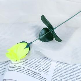Artificial flower rose yellow