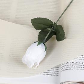 Цветок искусственный 'Роза' белая Ош