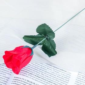 Цветок искусственный 'Роза' красная Ош