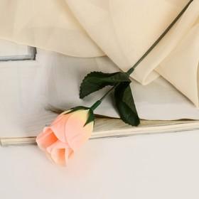 Цветок искусственный 'Роза' персиковая Ош