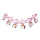 """Garland """"Daughter,"""" storks, 200 cm, color pink"""