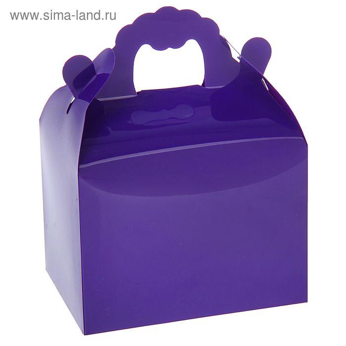 Коробка сборная пластик 11 х 14 х 8 см, цвет фиолетовый