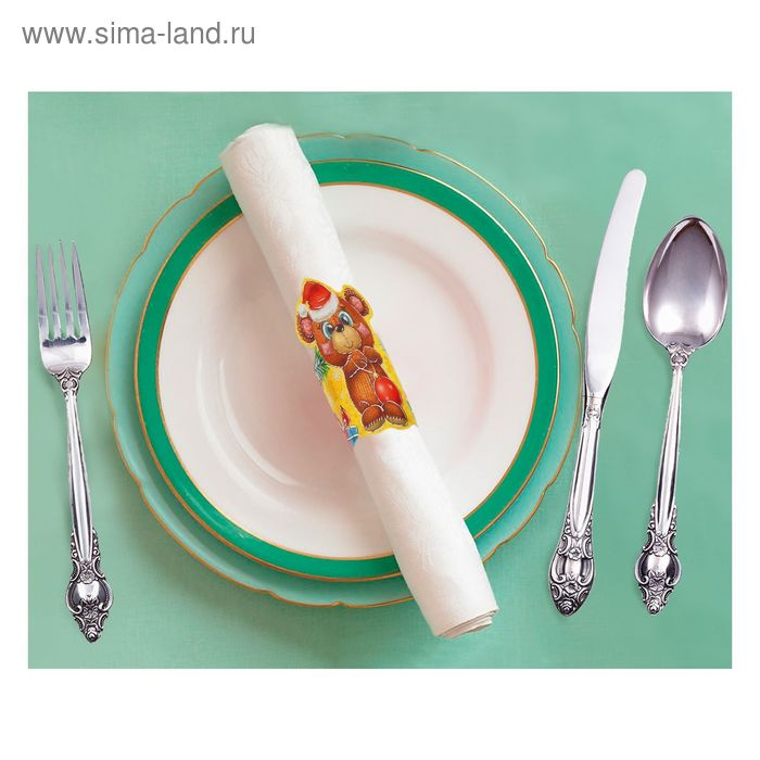 """Кольцо для салфеток """"Мишка"""", 15 х 7 см"""