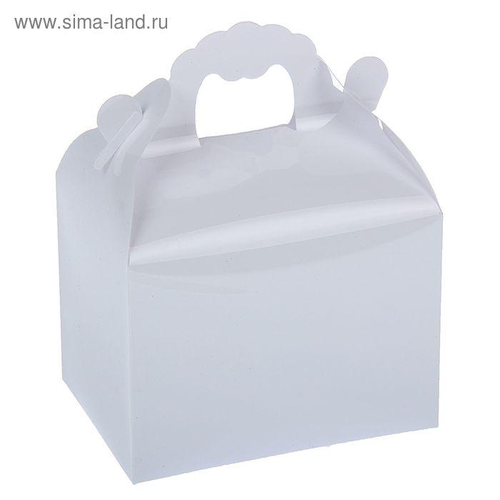 Коробка сборная пластик 11 х 14 х 8 см, цвет белый