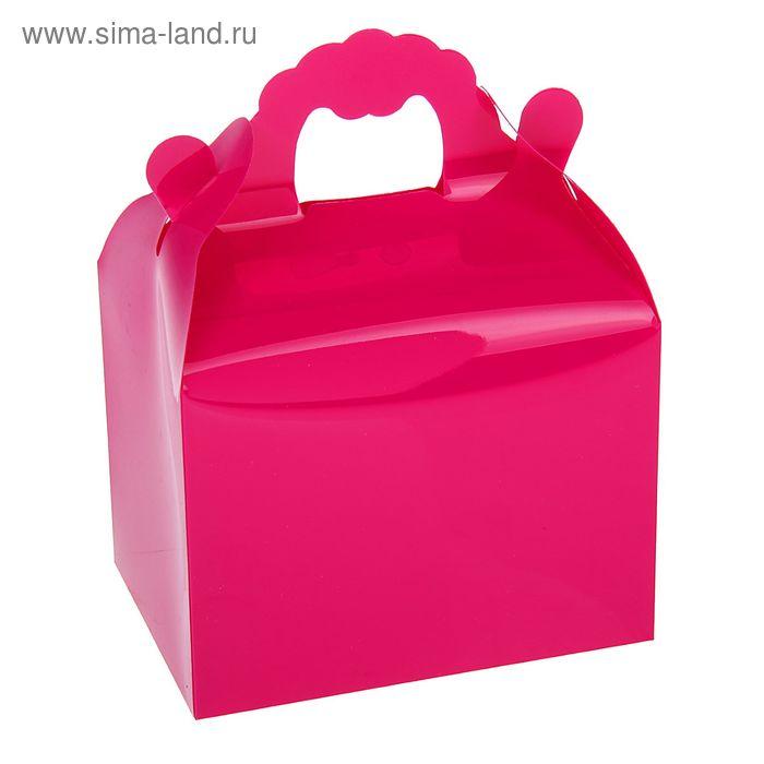 Коробка сборная пластик 11 х 14 х 8 см, цвет фуксия