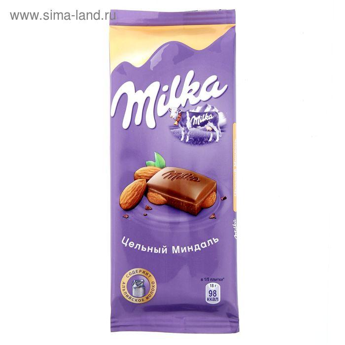 "Шоколад ""Milka"" цельный миндаль, 90 г"