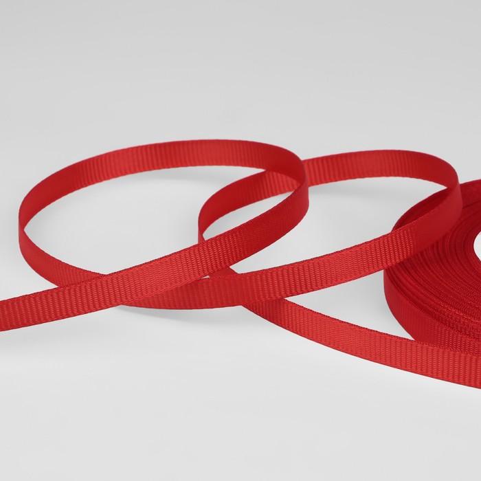 Лента репсовая, 6мм, 22±1м, №26, цвет красный