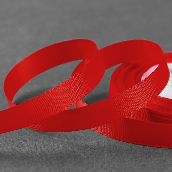 Лента репсовая, 15мм, 22±1м, №26, цвет красный