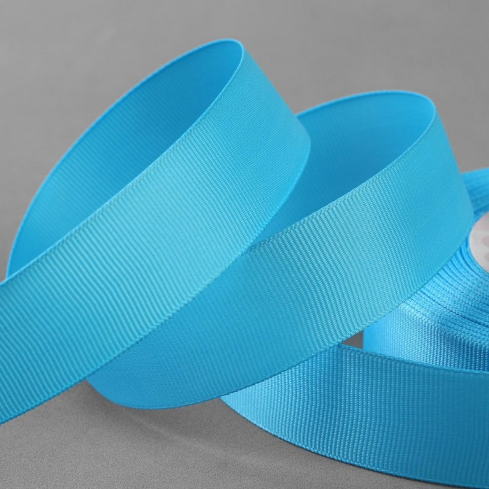 Лента репсовая, 25мм, 22±1м, №11, цвет голубой