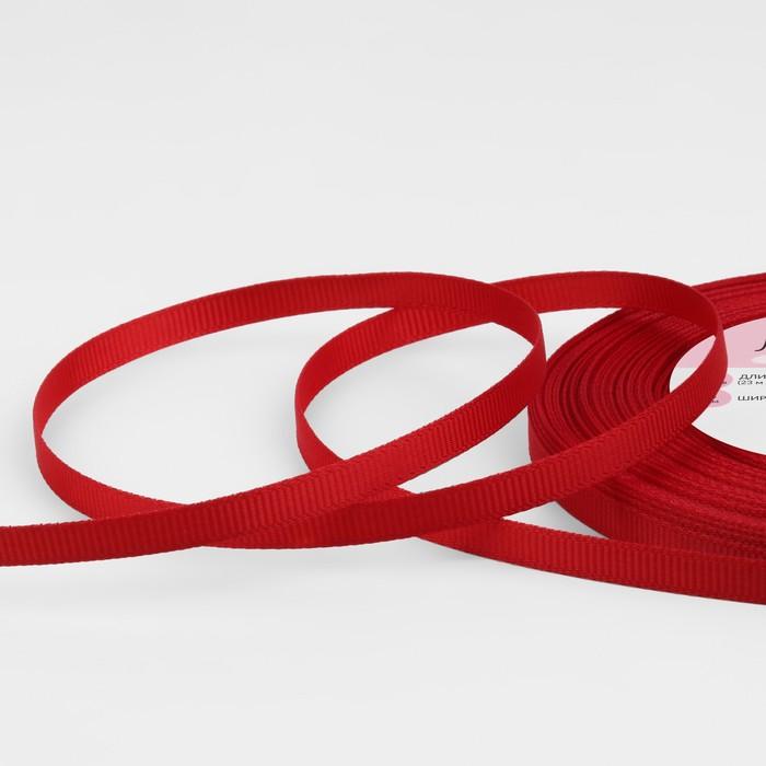 Лента репсовая, 6мм, 22±1м, №33, цвет бордовый