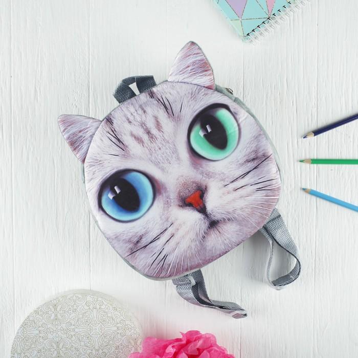 Мягкий рюкзак «Большеглазый котик» - фото 687118943