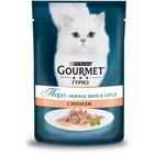 Влажный корм GOURMET PERLE для кошек, лосось, пауч, 85 г