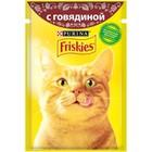 Влажный корм FRISKIES для кошек, говядина, пауч, 85 г