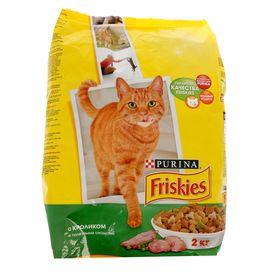 Сухой корм FRISKIES для кошек, кролик/птица/овощи, 2 кг