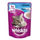 Влажный корм Whiskas для кошек, крем-суп с лососем, пауч, 85 г