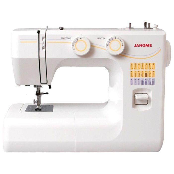 Швейная машина Janome 1143, 4 операции, обметочная строчка, белый