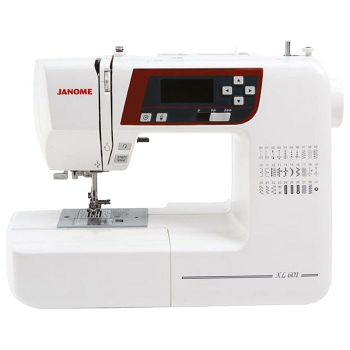 Швейная машина Janome 601DC, 30 операций, обметочная, потайная, эластичная строчка, белый
