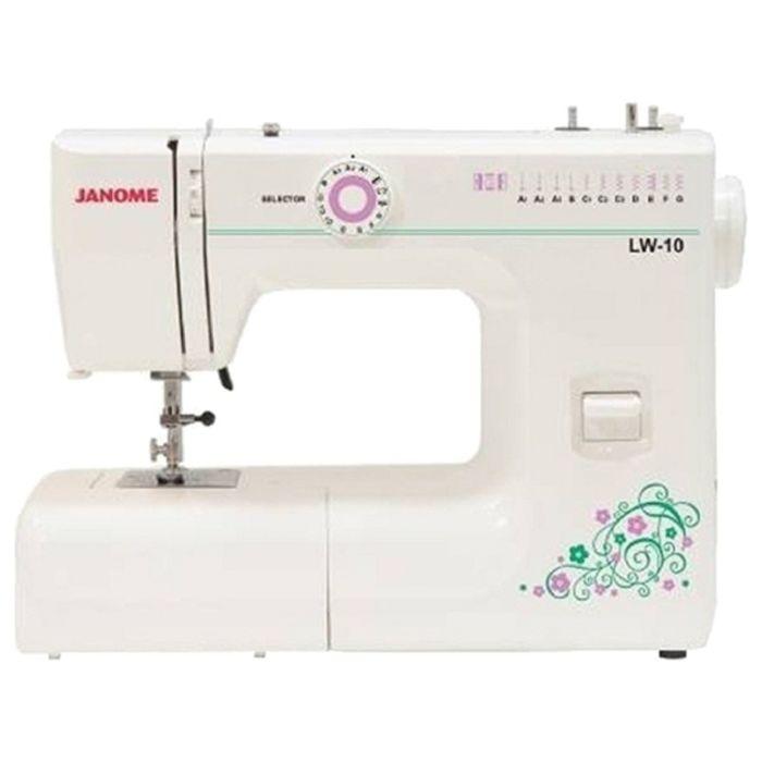 Швейная машина Janome LW-10, 7 операций, обметочная, потайная, эластичная строчка, белый