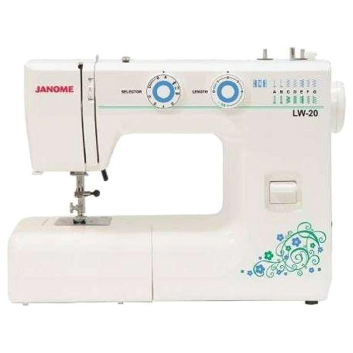 Швейная машина Janome LW-20, 17 операций, обметочная, потайная, эластичная строчка, белый