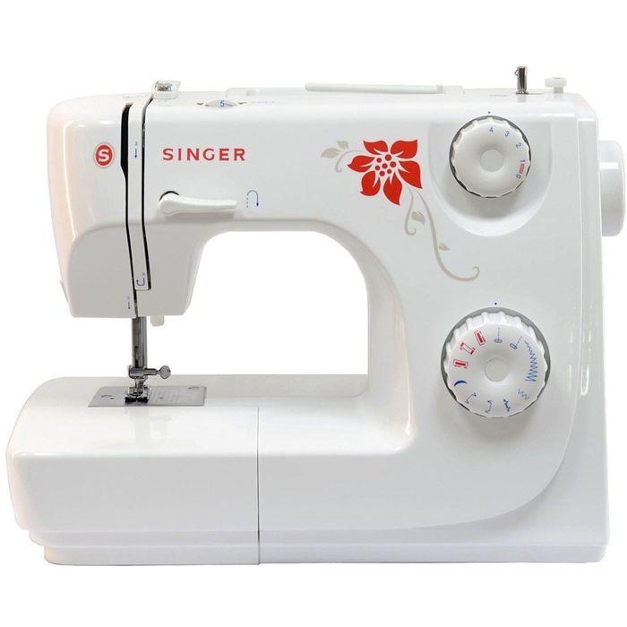 Швейная машина Singer 8280P, 8 операций, обметочная, потайная строчка, белый/цветы