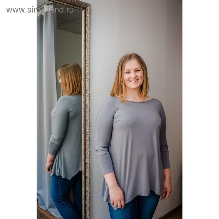 Туника женская Vera Nicco, размер 50 (XL), рост 168 см, цвет светло-серый (арт. 1605 С+)
