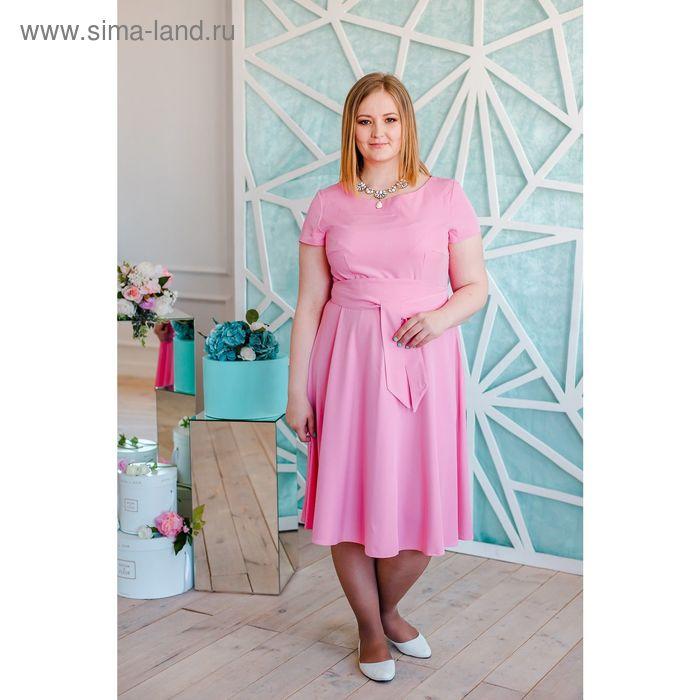 Платье женское Vera Nicco, размер 50 (XL), рост 168 см, цвет светло-розовый (арт. 15731 С+)