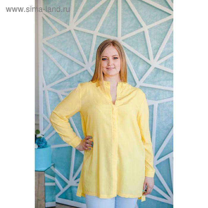 Блузка женская Vera Nicco, размер 56 (4XL), рост 168 см, цвет жёлтый (арт. 1552 С+)